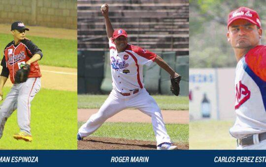 Berman Espinoza, Roger Marin, Carlos Pérez Estrella 100 victorias y mil ponches