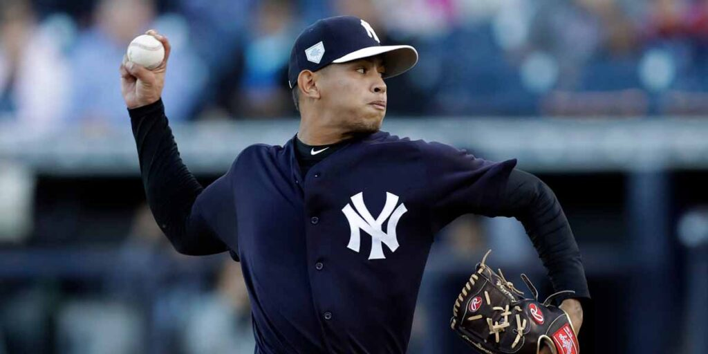 Jonathan Loaisiga spring training 2021 vs Phillies
