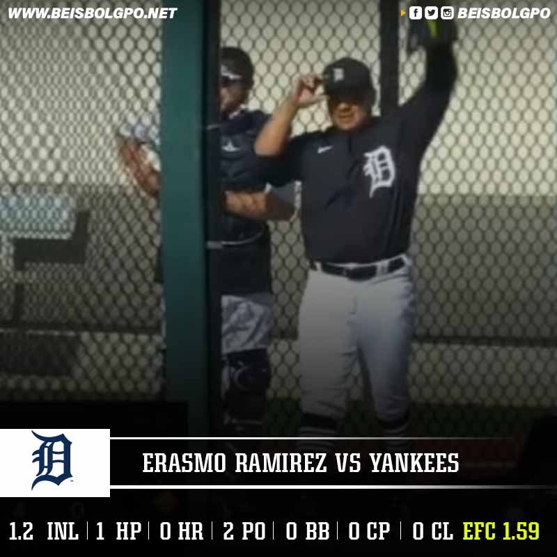 Labor Erasmo Ramírez vs Yankees