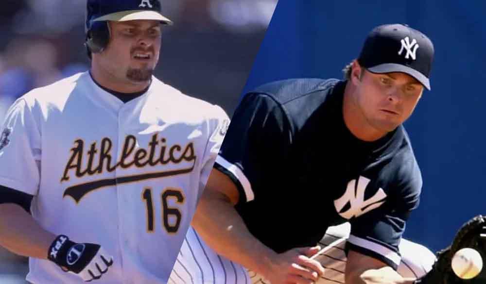 Jason Giambi sin barba Yankees