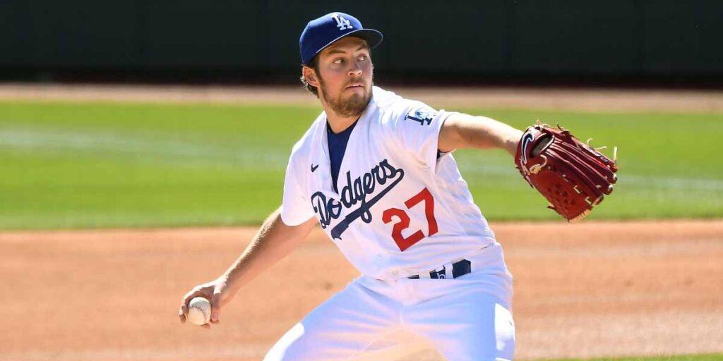 Trevor Bauer con los Dodgers en este 2021