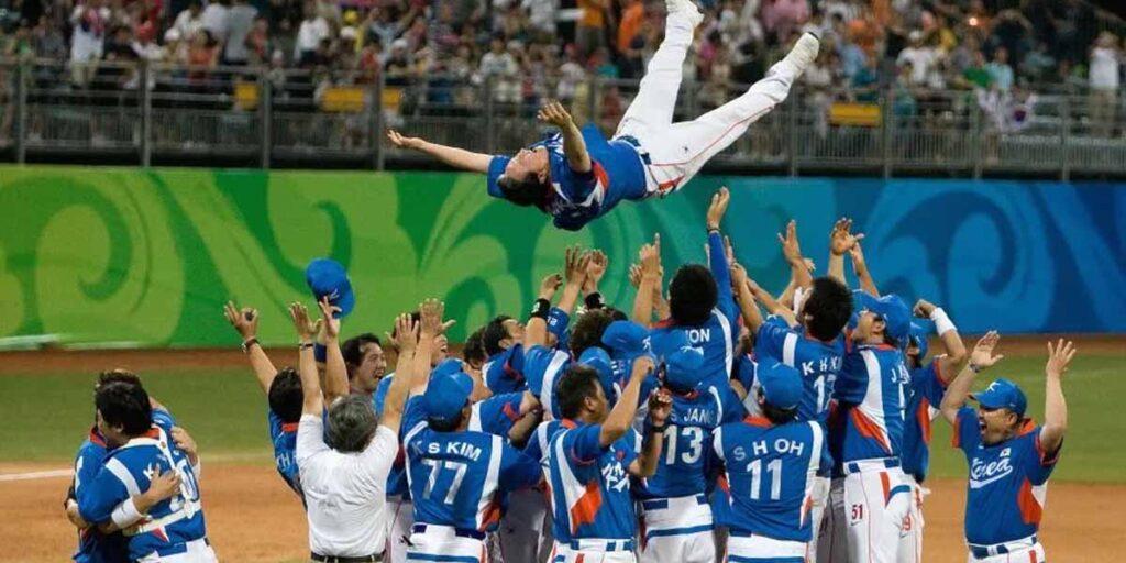 Corea último campeón olímpico de Béisbol